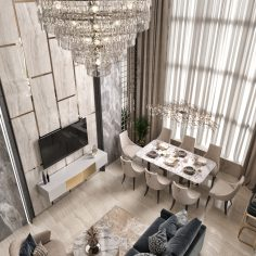Первый этаж дома в Сочи «Бежевый бархат»